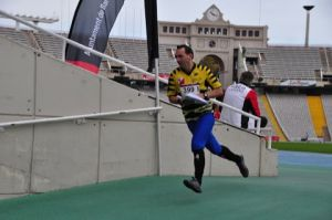 Photo taken at TICBCN 2012, Barcelona day 2, Montjuic Sun. 4/11/12 Shortly after the Start INSIDE the 1992 Olympic Stadium! By Tony Udris.