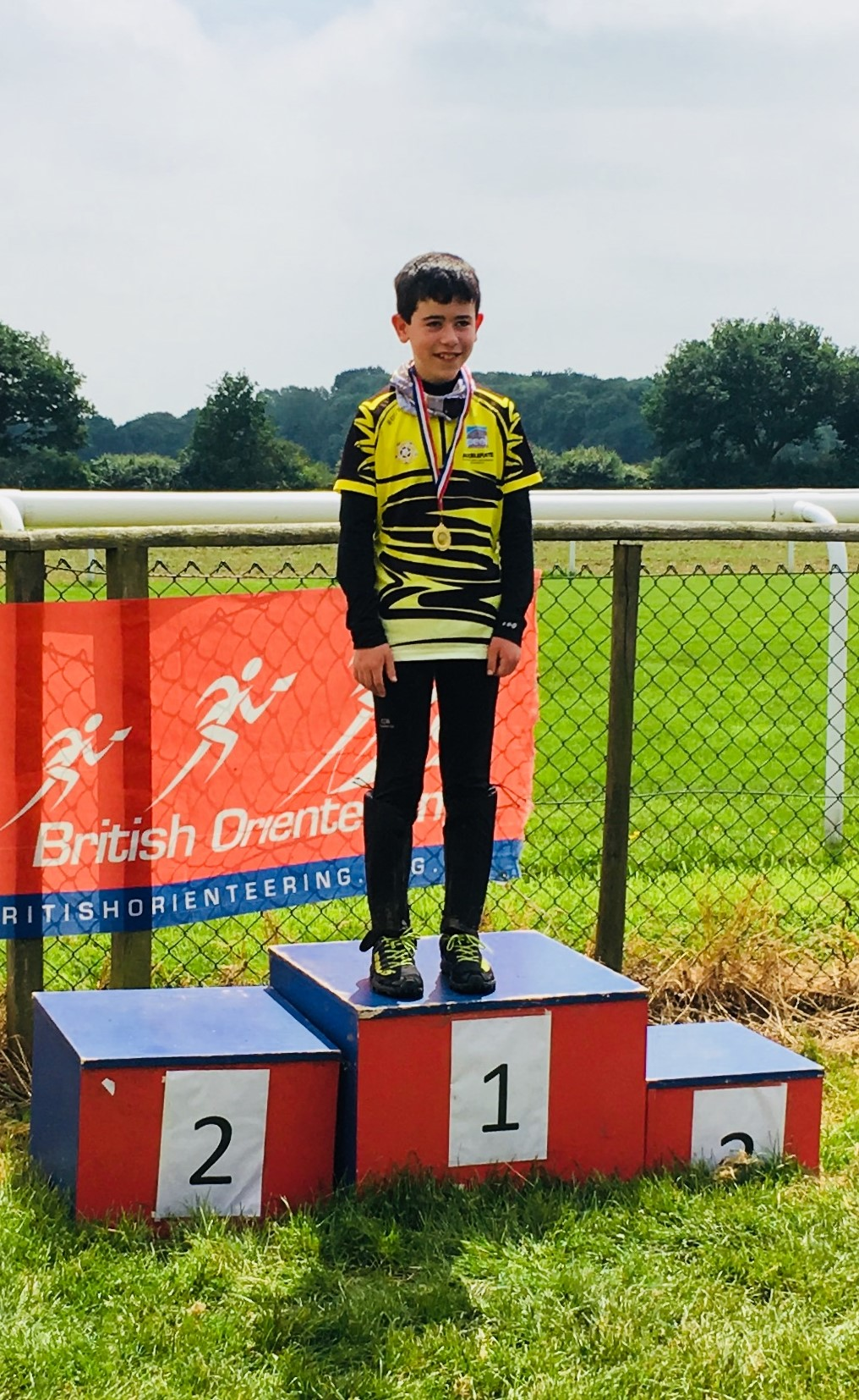 James on the Podium at the YHOA Schools Champs at Sandall Beat this summer